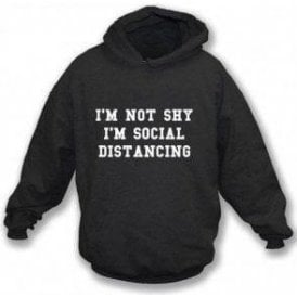 I'm Not Shy, I'm Social Distancing Kids Hooded Sweatshirt