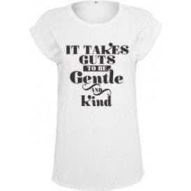 It Takes Guts To Be Gentle And Kind (As Worn By Morrissey, The Smiths) Women's Extended Shoulder T-Shirt