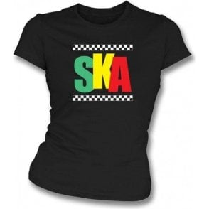 Jamaican Ska Womens Slim Fit T-Shirt