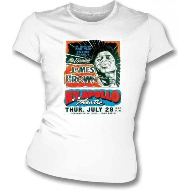James Brown 60's Apollo Gig Womens Slim Fit T-Shirt