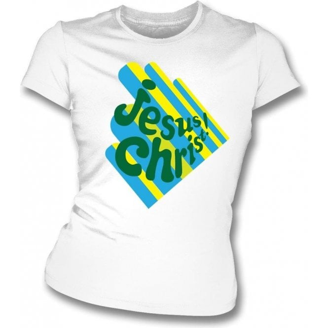 Jesus Christ Girl's Slim-Fit T-Shirt as worn by Keith Richards (The Rolling Stones)
