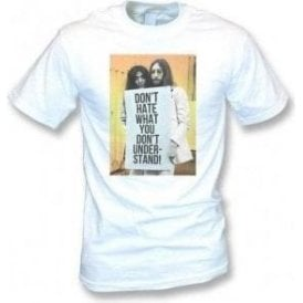 John Lennon and Yoko - Don't Hate Vintage Wash T-Shirt