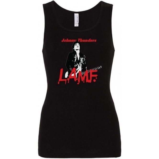 Johnny Thunders - L.A.M.F. Womens Baby Rib Tank Top