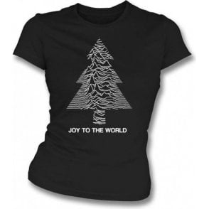 Joy To The World Womens Slim Fit T-Shirt