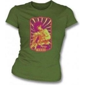 Keef 60's Design (Keith Richards) Womens Slim Fit T-Shirt