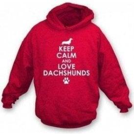 Keep Calm And Love Dachshunds Kids Hooded Sweatshirt