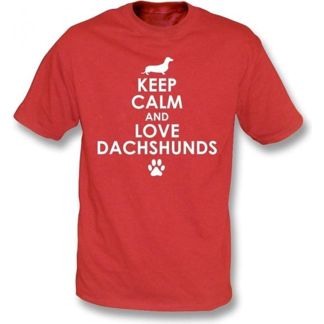 Keep Calm And Love Dachshunds Kids T-Shirt