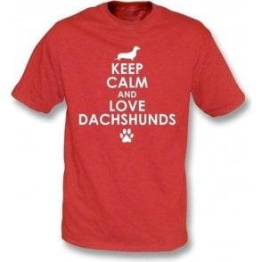 Keep Calm And Love Dachshunds Kids T-Shirt