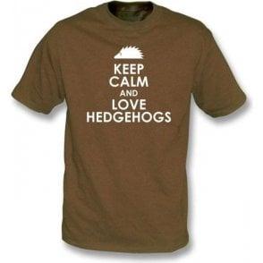 Keep Calm And Love Hedgehogs Kids T-Shirt