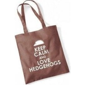 Keep Calm And Love Hedgehogs Long Handled Tote Bag