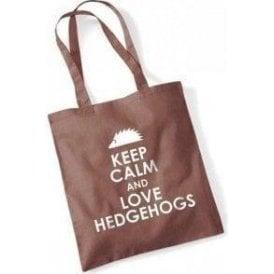 Keep Calm And Love Hedgehogs Long Handled Tote Bag