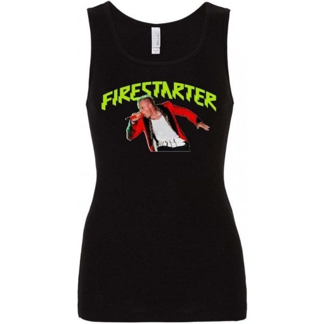 Keith Flint - Firestarter Womens Baby Rib Tank Top