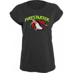 Keith Flint - Firestarter (The Prodigy) Womens Extended Shoulder T-Shirt