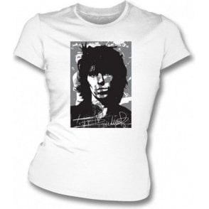 Keith Richards Collage Womens Slimfit T-shirt