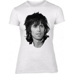 Keith Richards Face (As Worn By Patti Smith) Womens Slim Fit T-Shirt