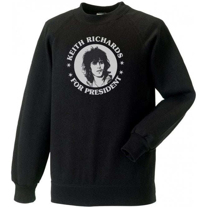 Keith Richards For President Black Sweatshirt