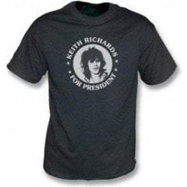 Keith Richards For President Black Vintage Wash T-Shirt