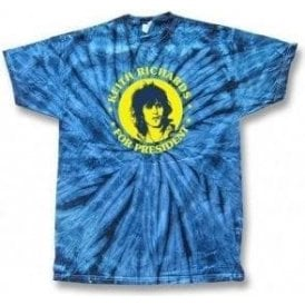 Keith Richards For President Tie Dye T-shirt