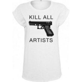 Kill All Artists (As Worn By Thom Yorke, Radiohead) Womens Extended Shoulder T-Shirt