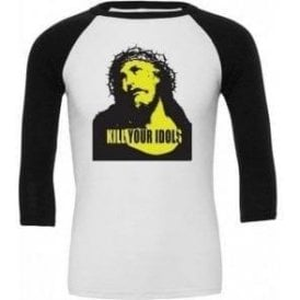 Kill Your Idols (As Worn By Axl Rose, Guns N' Roses) 3/4 Sleeve Unisex Baseball Top