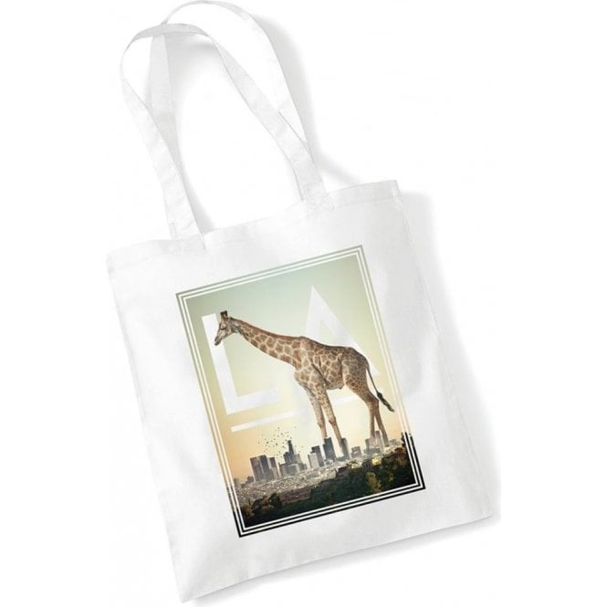 L.A. Giraffe Long Handled Tote Bag