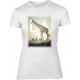L.A. Giraffe Womens Slim Fit T-Shirt