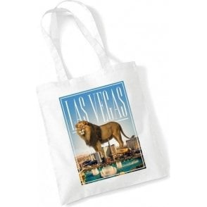 Las Vegas Lion Long Handled Tote Bag