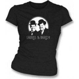 Laurel & Hardy Comedy Superstars Womens Slim Fit T-Shirt