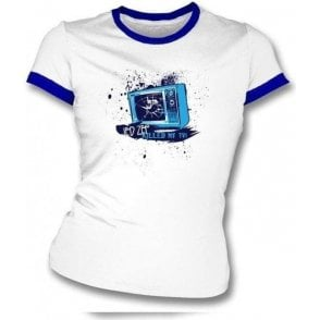 Led Zep killed my TV girls slimfit t-shirt