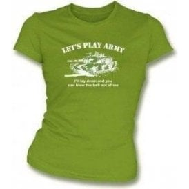 Let's Play Army Girls Slim-Fit T-shirt