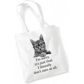 Literally Don't Care Long Handled Tote Bag