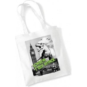 London T-Rex Attack Long Handled Tote Bag