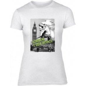 London T-Rex Attack Womens Slim Fit T-Shirt