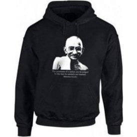 Mahatma Ghandi Hooded Sweatshirt
