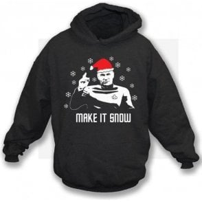 Make It Snow (Inspired by Star Trek) Hooded Sweatshirt