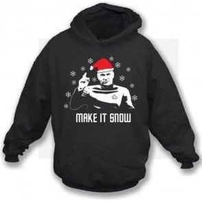 Make It Snow (Inspired by Star Trek) Hooded Sweatshirt