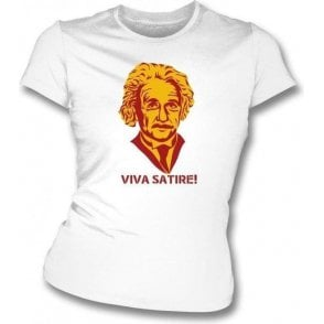 "Mark Twain ""Viva Satire!"" Womens Slim Fit T-Shirt"