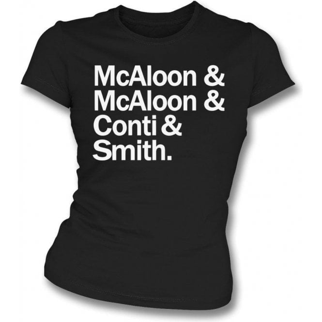 McAloon & McAloon & Conti & Smith (Prefab Sprout) Womens Slim Fit T-Shirt