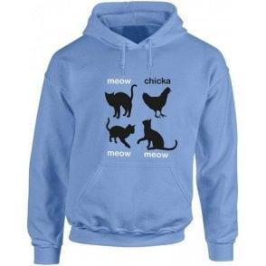 Meow Chicka Meow Meow Kids Hooded Sweatshirt