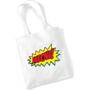 Meow Comic Bubble Long Handled Tote Bag