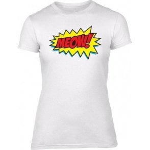 Meow Comic Bubble Womens Slim Fit T-Shirt