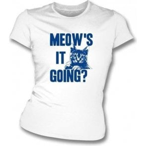 Meow's It Going Women's Slimfit T-shirt