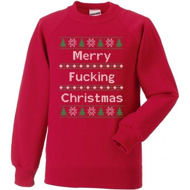 99976dc9278 Merry F cking Christmas Sweatshirt - from TShirtGrill UK
