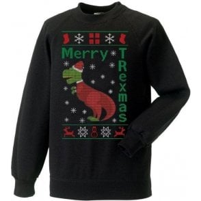 Merry T-Rexmas Kids Sweatshirt