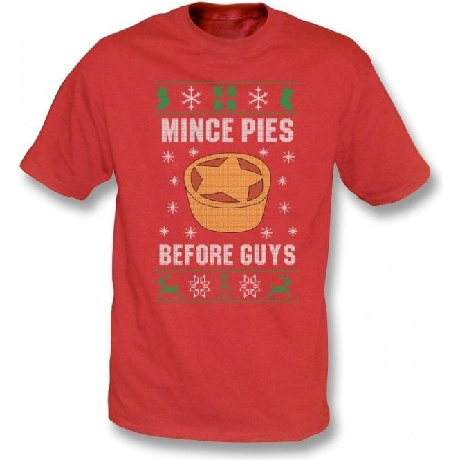Mince Pies Before Guys Kids T-Shirt
