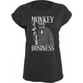 Monkey Business Womens Extended Shoulder T-Shirt