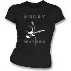Muddy Waters Blues Legend Girl's Slim-Fit T-Shirt
