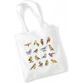 Multiple Birds Long Handled Tote Bag