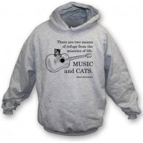 Music and Cats Hooded Sweatshirt