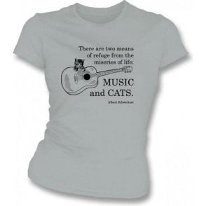 Music and Cats Women's Slimfit T-shirt